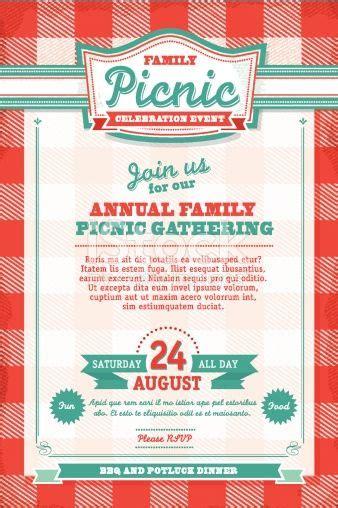 vector illustration   family picnic celebration