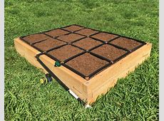 3x4 Raised Garden Kit with its own watering system