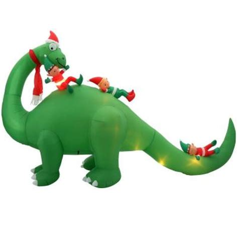 home accents holiday  ft  inflatable brontosaurus