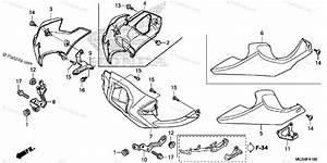Honda Motorcycle 2012 Oem Parts Diagram For Under Cowl