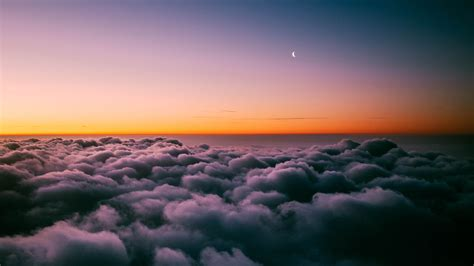 4k Wallpapers by Sunset Horizon Above Clouds 4k Wallpapers Hd Wallpapers