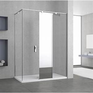 paroi de douche a l39italienne eliseo profile chrome l70 With porte de douche coulissante avec miroir led salle de bain 120