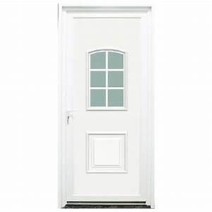 Porte D Entrée Blanche : porte d 39 entr e pvc loire blanche 215x90cm droit ~ Melissatoandfro.com Idées de Décoration