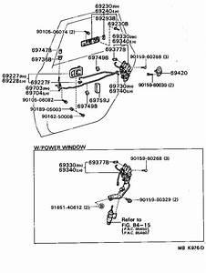 1988 Toyota Camry Door Lock Striker Plate  Front  Rear   Striker  Back Door Lock