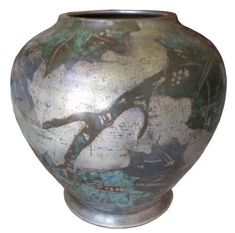 deco vase wmf german deco ikora dinanderie vase modernism