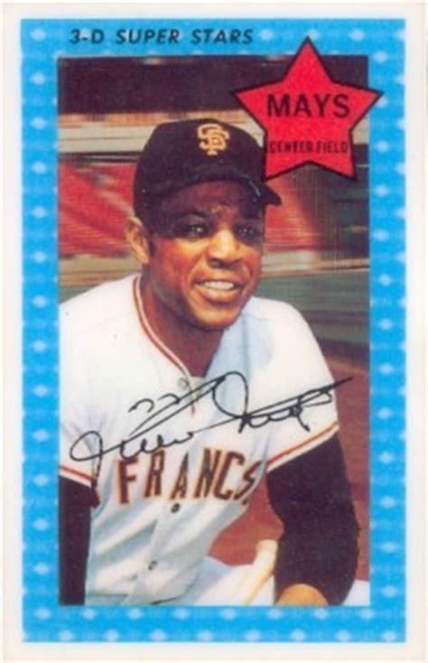 kelloggs willie mays  baseball card  price guide