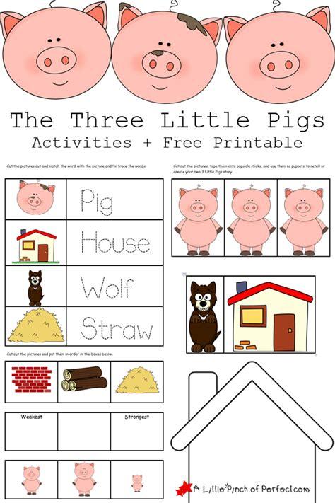 the three little pigs preschool activities the 3 pigs activities free printables 753