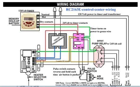 rc2163e center wiring on pool light transformer