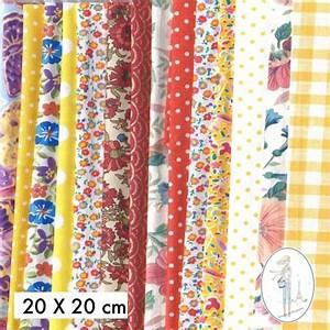 Tissu Exterieur Pas Cher : lot coupons tissu pas cher jaune orange 30x30 cm ~ Dailycaller-alerts.com Idées de Décoration