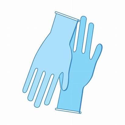 Gloves Clipart Latex Medical Vector Hands Illustrations