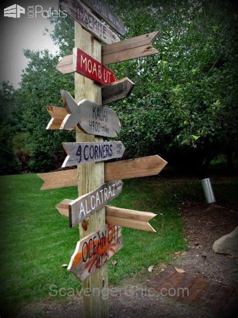 signpost    pallet wood  pallets
