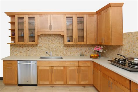 honey shaker maple cabinets ready  assemble kitchen