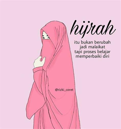 gambar wanita berhijab syari kartun kumpulan dp bbm terbaru gambar kartun muslimah menghadap