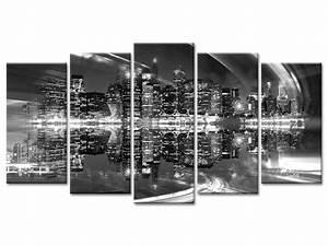 Tableau Photo Noir Et Blanc : tableau photo skyline new york de nuit d co murale urbaine ~ Melissatoandfro.com Idées de Décoration