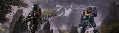 Monitor Dual Wallpapers Halo Reach Desktop Gaming