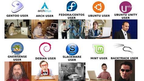 asi se ven los usuarios de las distribuciones de linux