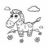Zebra Cute Coloring Pages Supercoloring Printable sketch template