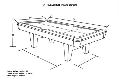 8 pool table dimensions billiards professional pool table