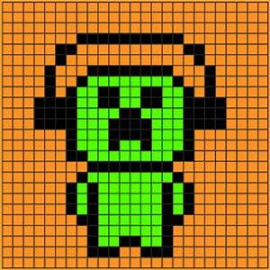 Pixel Art Minecraft.music Creeper Pixelart Grid.png ...
