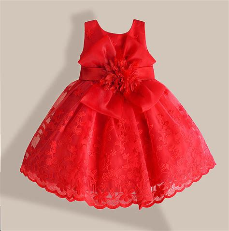 dress flower bayi baby dress lace flower embroidery