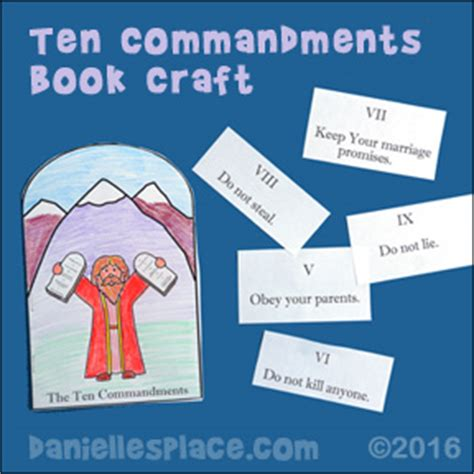 ten commandments crafts and for sunday school and 10 | moses ten commandments book pic4