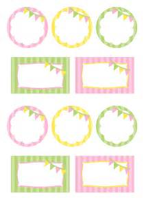 pink green yellow free printables