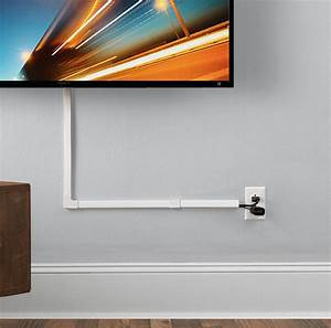 How To Hide Tv Wires In Or On The Wall