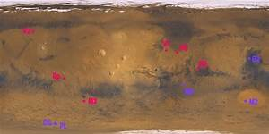 NASA Map Mars Landings - Pics about space