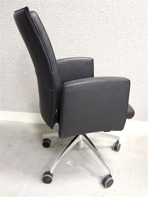 garniture de bureau en cuir fauteuil de bureau a pietement en metal chrome et