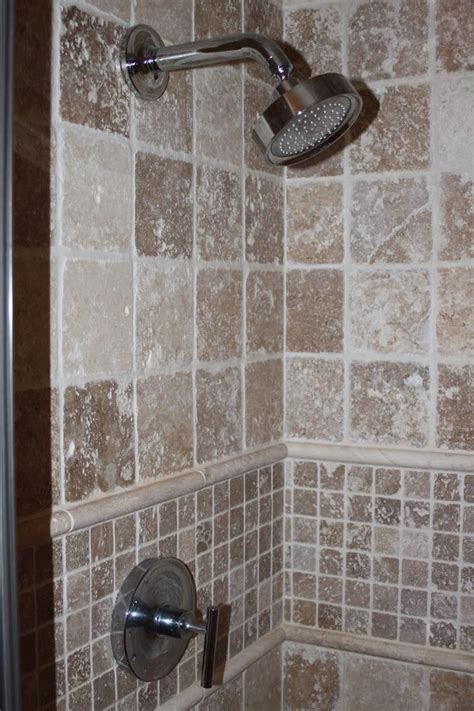tiled shower stall master bath shower stall