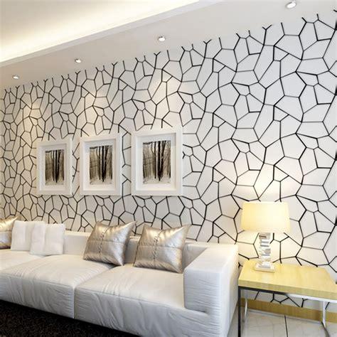 living room wall decor 3d abstract modern fashion geometric non woven wallpaper 7143