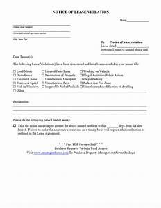 notice of lease violation pdf property management forms With property management forms and letters