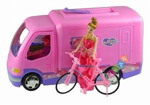 Spielzeug Für Mädchen : wohnmobil mit fahrrad puppe spielzeug f r m dchen ~ A.2002-acura-tl-radio.info Haus und Dekorationen