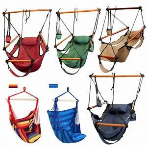 Outdoor Indoor Hammock Hanging Chair Air Deluxe Sky Swing ...