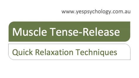Quick Relaxation - Muscle Tension Release - YouTube