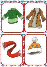 english teaching worksheets winter clothes kids winter
