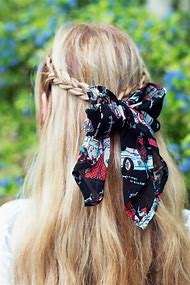 Vintage Chiffon Hair Scarves