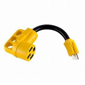 Maxxhaul Dogbone Rv  Electrical Adapter 15 Amp Male To 50
