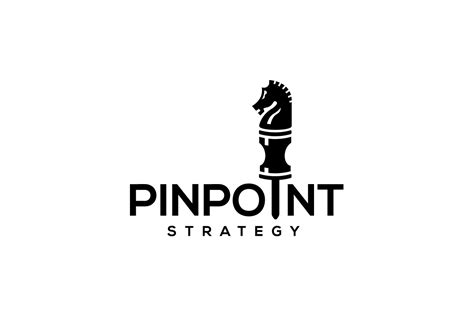 sale pinpoint strategy chess knight logo design