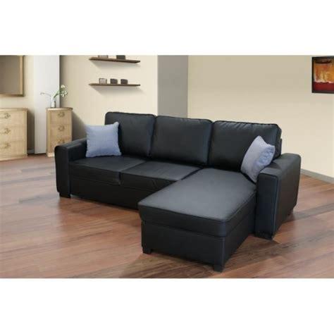 canapé d angle lit canapé d angle convertible lit simili cuir noir achat
