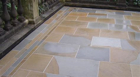 tower sandstone paving