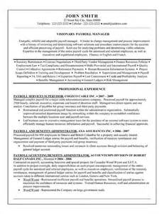 hr payroll resume exles 15 best images about human resources hr resume templates sles on
