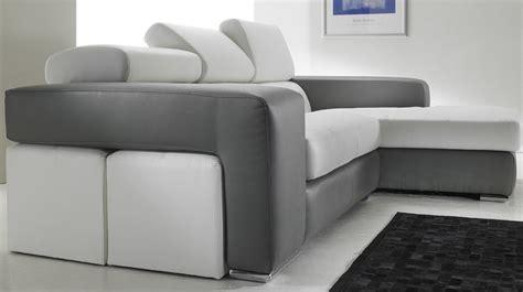 canape angle cuir noir canapé d 39 angle en cuir noir et blanc pas cher canapé