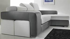 canape d angle cuir noir et blanc 28 images canap 233 With canapé d angle cuir blanc et noir