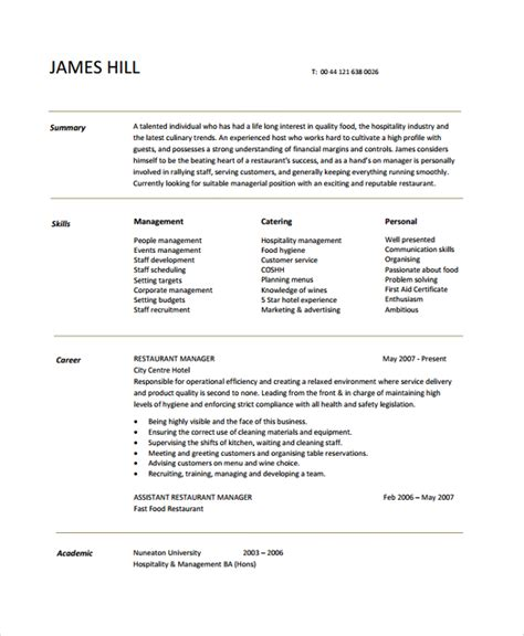Resume Summary For Management Positionresume Examples