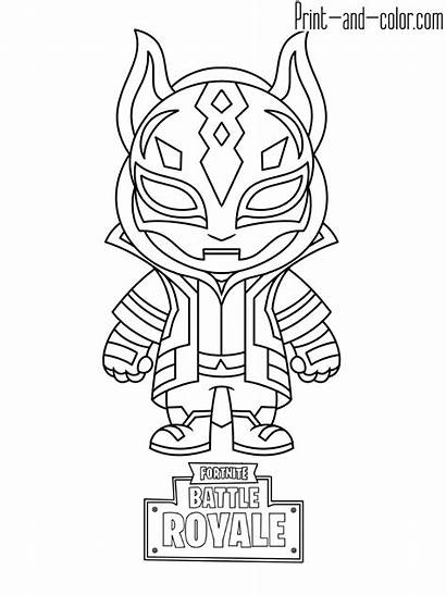 Fortnite Coloring Pages Drawings Drift Printable Cartoon