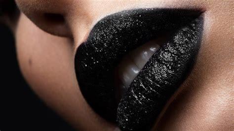 black lipstick  winters hottest lipstick trend   pinterest allure