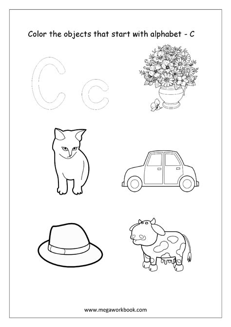 color starting with c alphabet picture coloring pages things that start with