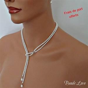 parure bijoux mariage perle la boutique de maud With magasin de robe de mariée avec collier fantaisie pas cher