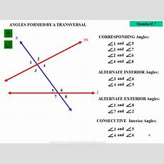 Angles Form By A Transversal Parallel Lines Cut By A Transversal  Ppt Video Online Download